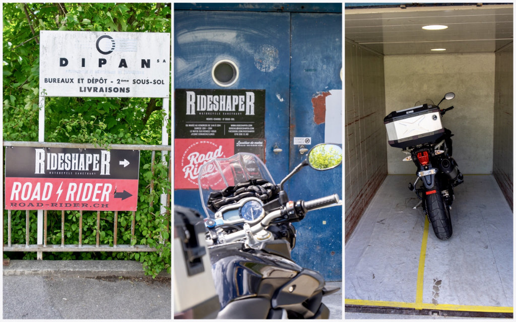 Rideshaper Entrance Cruizador DIY Workshop Custom Bike Lausanne Switzerland