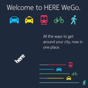 Here WeGo Navigation App Smartphone Cruizador