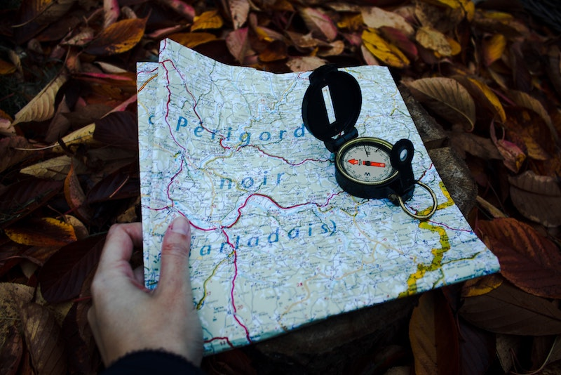 Paper Map Compass Cruizador Navigation